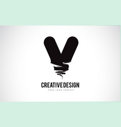 Letter logo design brush paint stroke artistic vector