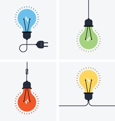 Light bulb simple icon set vector image