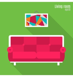 Living room in flat style vector