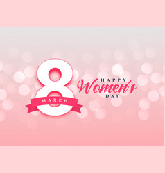 lovely happy womens day celebration card design vector image