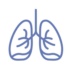 lung or human lungs icon line outline art vector image