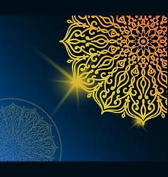 Mandala pattern background vector