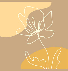modern art abstract floral artwork background vector image