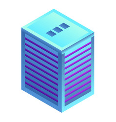 modern city building icon isometric style vector image