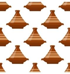 Moroccan tajine seamless vector