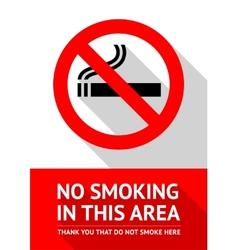 No smoking sticker flat design vector