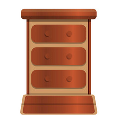 Old drawer icon cartoon style vector