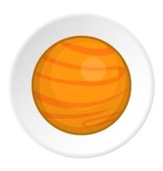 Planet icon cartoon style vector