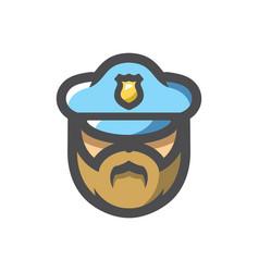 policeman in a cap cartoon vector image
