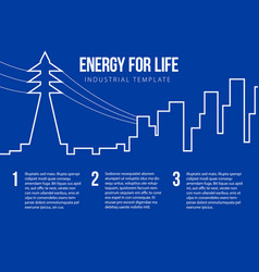 Post card for energy nuclear or power company vector