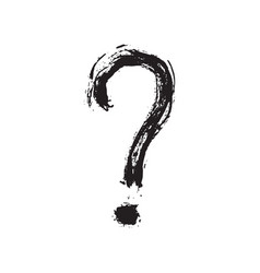 question mark grunge textured hand drawn vector image