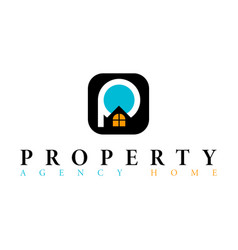 real estate initial letter p logo design template vector image