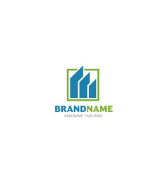 real estate logo concept vector image
