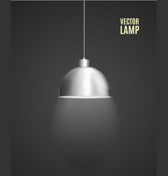 realistic detailed 3d lamp with light vector image