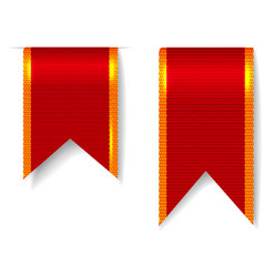 Red bookmark ribbons set vector