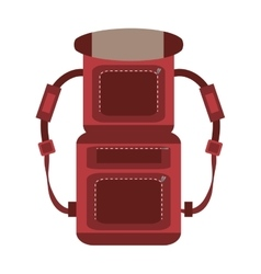 Red packback travel bag tourist vector