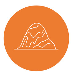 rounded hill icon in thin line style vector image
