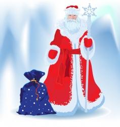 Russian Santa Klaus vector