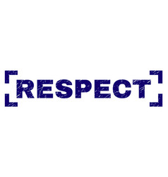 Scratched textured respect stamp seal inside vector