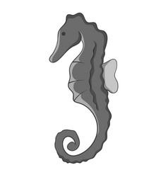 seahorse hippocampus icon monochrome vector image