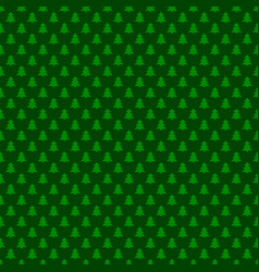 seamless green simple geometrical xmas tree vector image