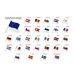 Set european union country flags 2019 vector