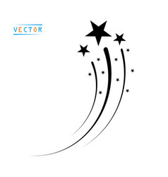 Silhouette flying star comet with tail fireworks vector