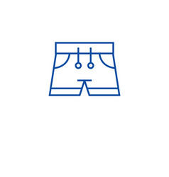 swimming trunks line icon concept swimming trunks vector image