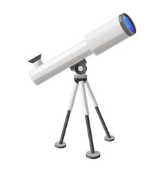 Telescope view from right isolated vector