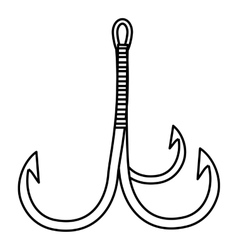 Three hooks icon outline style vector image