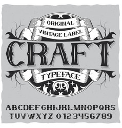 vintage label typeface poster vector image