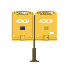 Vintage postbox or mail post icon vector