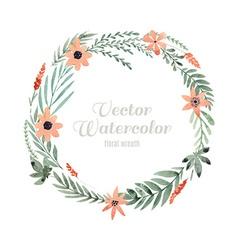 Watercolor flower frame vector image