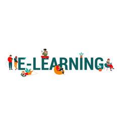 Web banner design for e-learning internet school vector