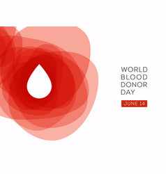 World blood donor day background vector