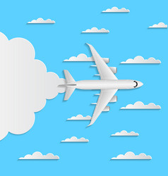 Worldwide air traveling poster with jet airplane vector