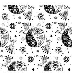 Yin yang paisley vector