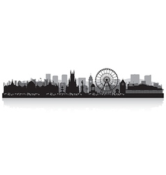 Brighton city skyline silhouette vector image vector image