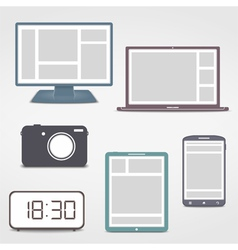 Colored Electronics Icons vector image vector image