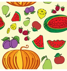 fruity pattern vector image vector image