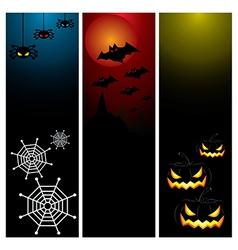 Happy Halloween day banner set design vector image vector image