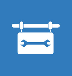 Icon wrench sign vector