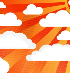 Rain clouds with sun vector image