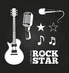 rock star or musician elements set vector image
