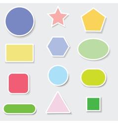 set of paper labels vector image