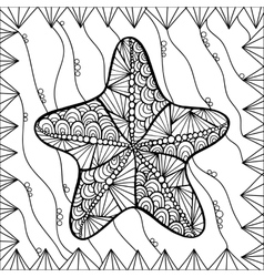 Starfish style zentangl vector image vector image