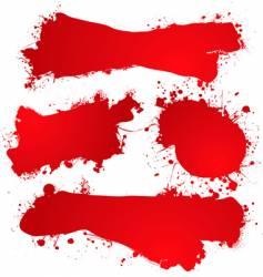 ink splat blood vector image vector image