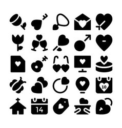 Love and Romance Icons 9 vector image