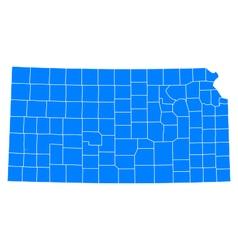 Map of Kansas vector image