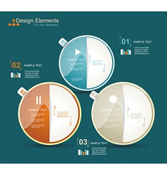 Modern business circle style options banner vector image